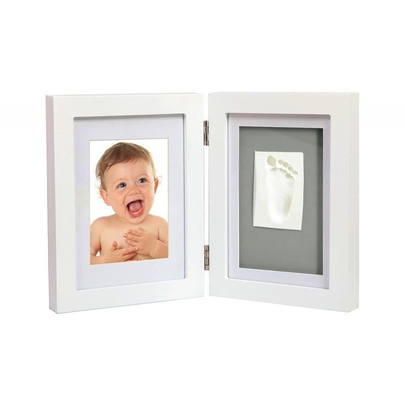 Holzbilderrahmen für ein Foto und einen Abdruck