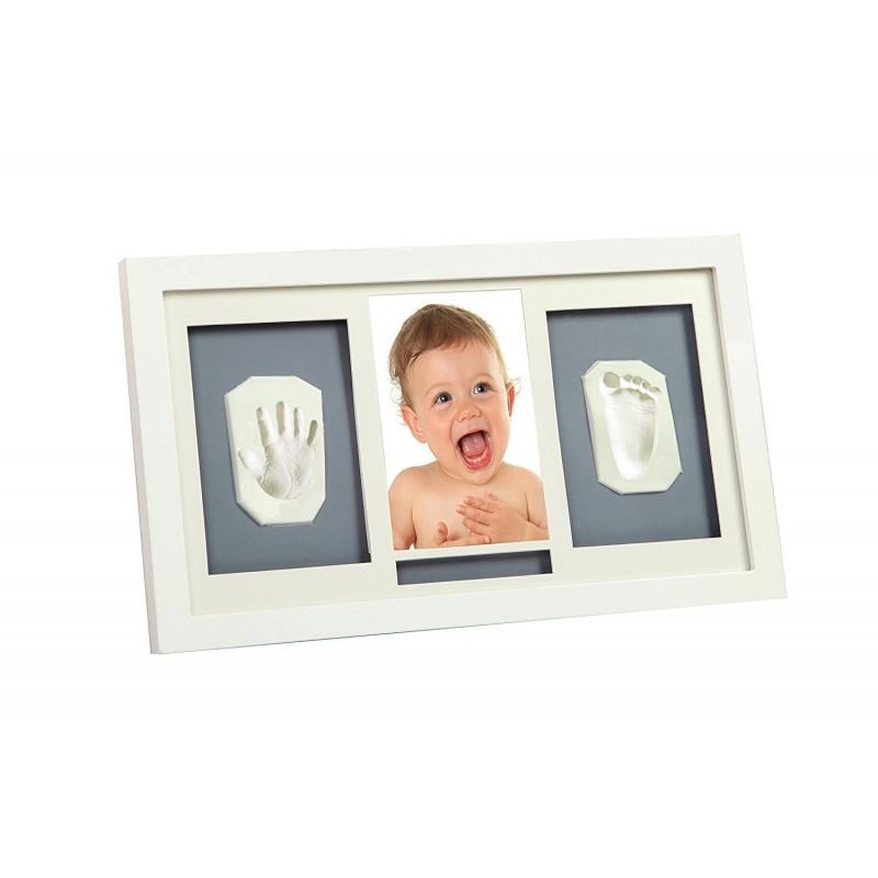 Holzbilderrahmen für ein Foto und zwei Abdrücke