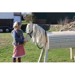 Zuerst freundet sich die kleine Reiterin an ...