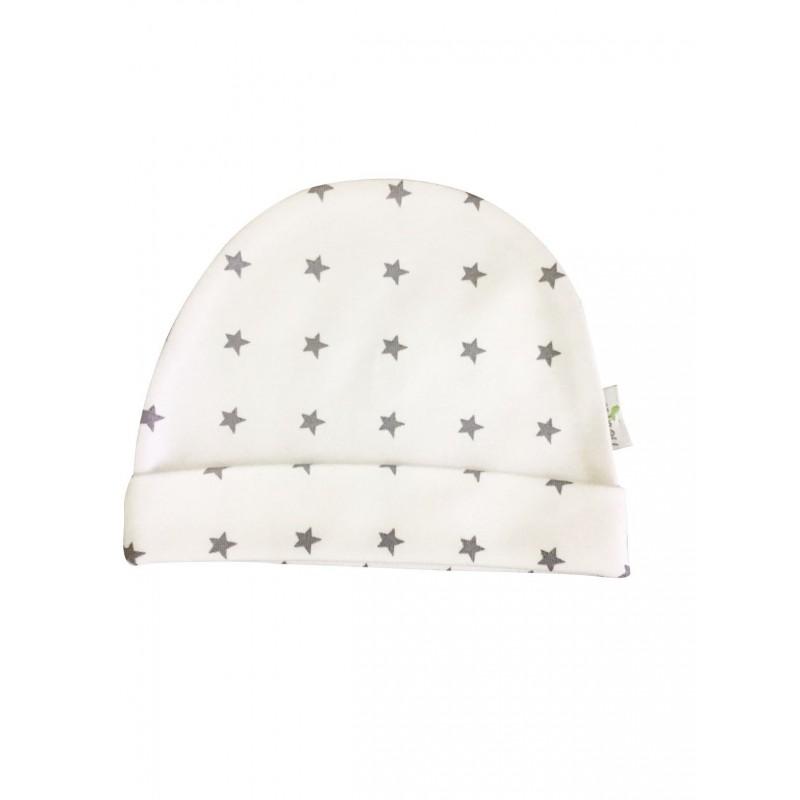 Baby Mütze Stern Grau