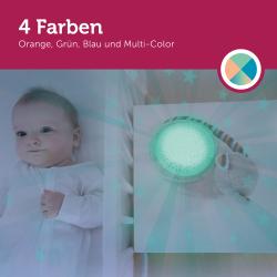 Leuchtet in 4 Farben.