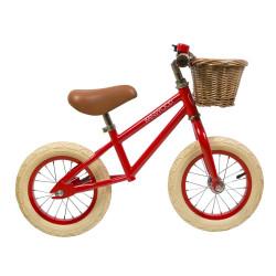 FIRST GO! Laufrad in einem knalligen Rot
